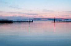 Vitorlás kikötő a Balatonon